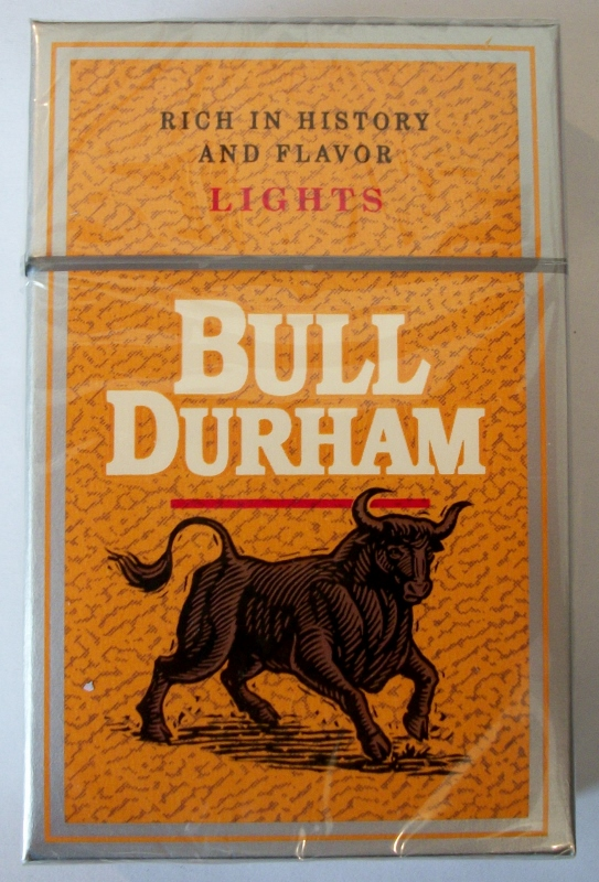 Bull Durham Lights box - vintage American Cigarette Pack (version 1)