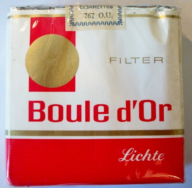 Boule D'Or Filtre Legere / Licht - vintage Belgian Cigarette Pack