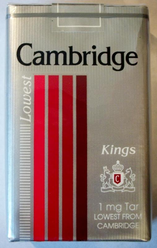 Cambridge Lowest, King Size - vintage American Cigarette Pack