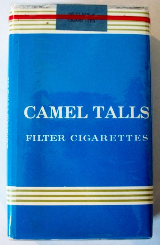 Camel Talls filter king size - vintage R.J. Reynolds Trademark Cigarette Pack