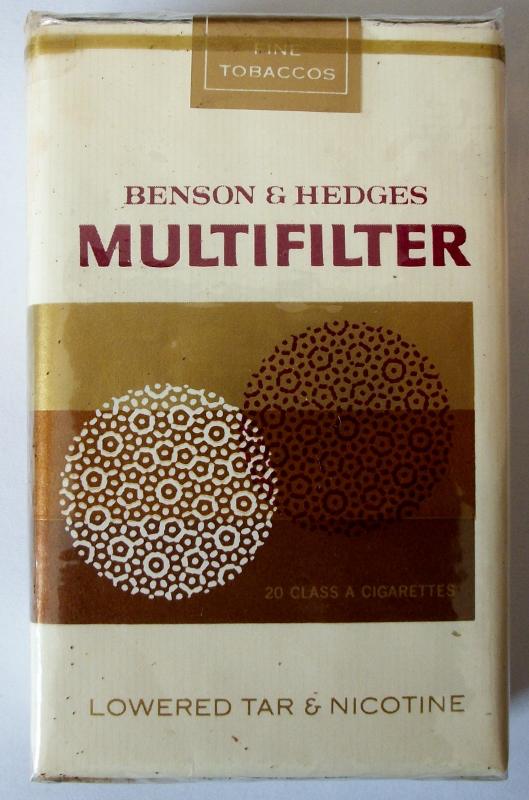 Benson & Hedges Multifilter, King Size - vintage American Cigarette Pack