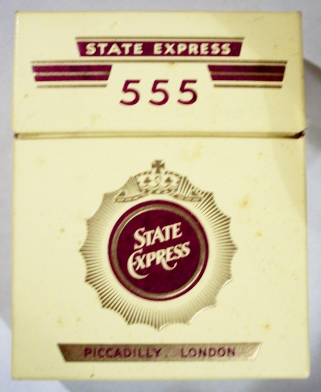 State Express 555 70mm - Specially Packaged for BOAC Airlines - vintage British Cigarette Pack