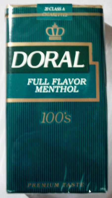 Doral Full Flavor Menthol 100's - vintage American Cigarette Pack