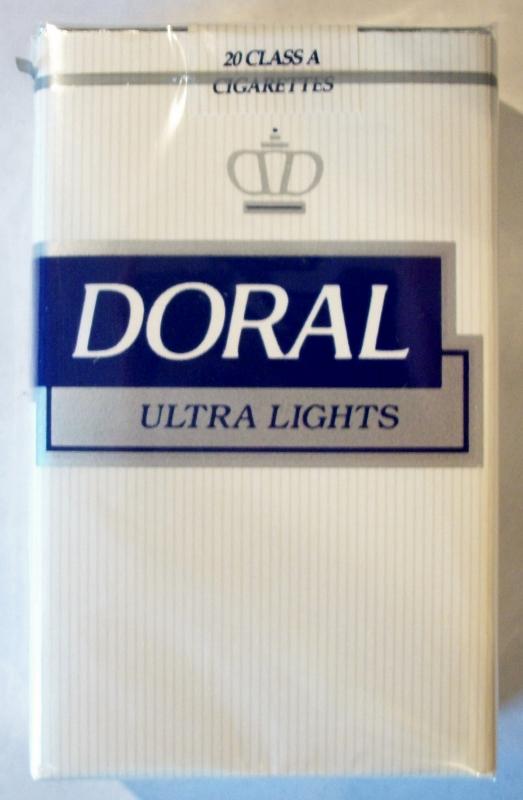 Doral Ultra Lights, King Size - vintage American Cigarette Pack