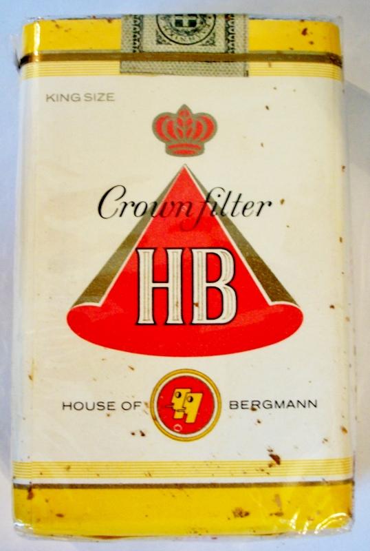 HB (House of Bergmann) Crown Filter - vintage Greek Cigarette Pack