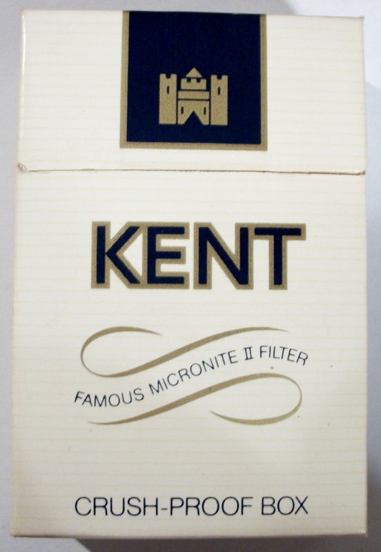 Kent with the Famous Micronite II Filter - vintage American Cigarette Pack