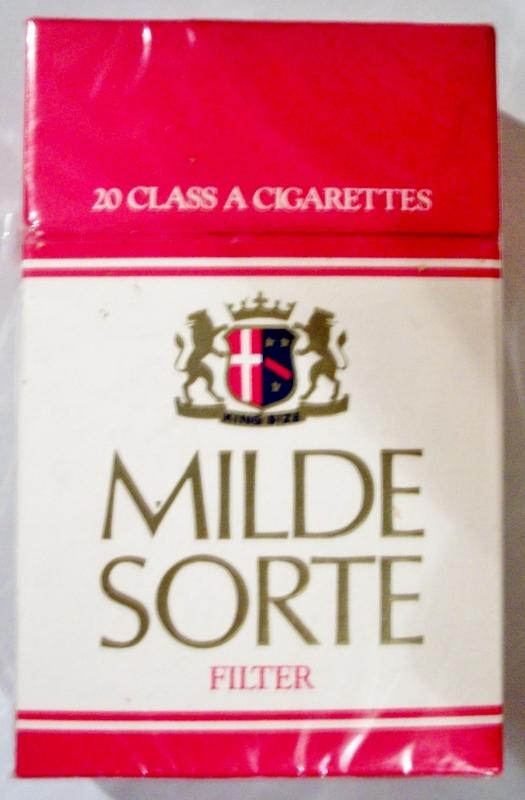 Milde Sorte Filter, King Size box - vintage Austrian Cigarette Pack