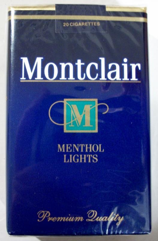 Montclair Menthol Lights King Size - vintage American Cigarette Pack