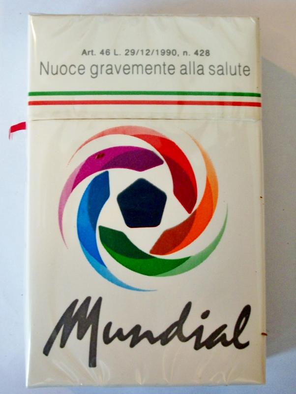 Mundial king size box - vintage Italian Cigarette Pack