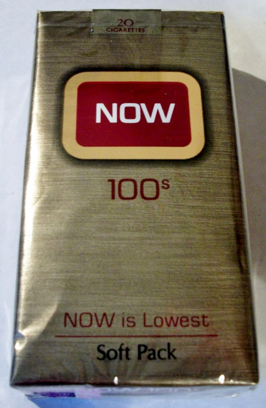 NOW 100's - vintage American Cigarette Pack