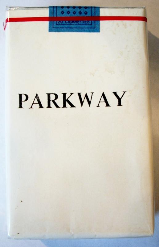 Parkway, King Size - vintage Trademark Cigarette Pack