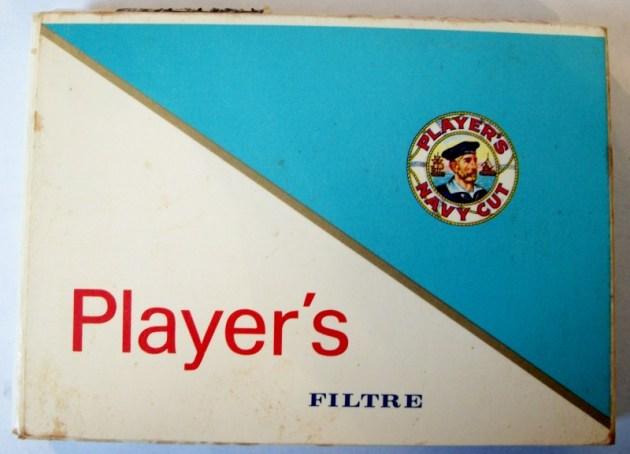 Player's Navy Cut Filter, 25-pack 70mm - vintage Canadian Cigarette Pack