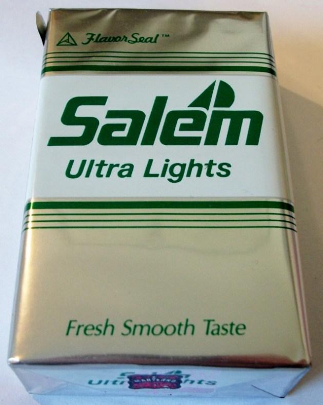 Salem Ultra Lights, FlavorSeal, King Size - vintage American Cigarette Pack