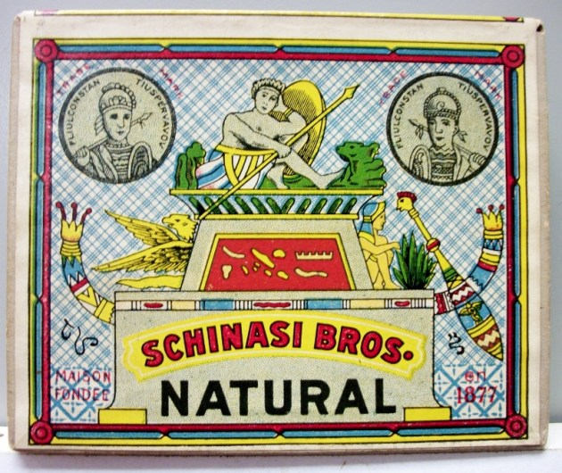 Schinasi Bros. Natural WWII 1945 - vintage American Cigarette Pack
