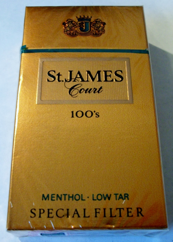 St. James Court 100's Menthol Special Filter - vintage American Cigarette Pack