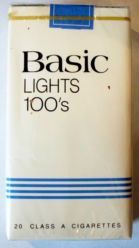 Basic Lights 100's - vintage American Cigarette Pack (version 1)