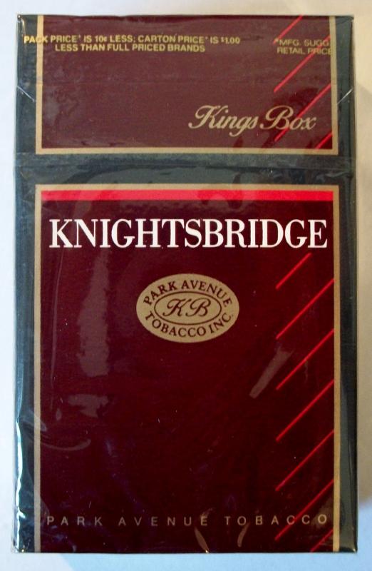 Knightsbridge Kings Box - vintage American Cigarette Pack