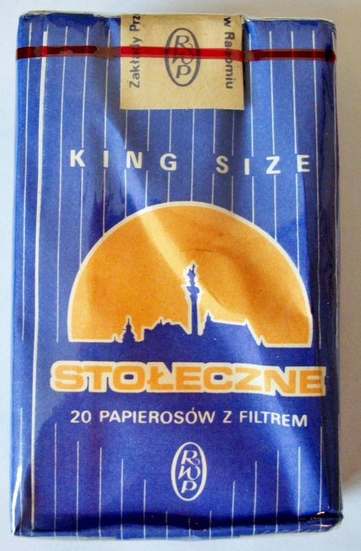 Stołecze Papierosów Z Filtrem, King Size - vintage Polish Cigarette Pack