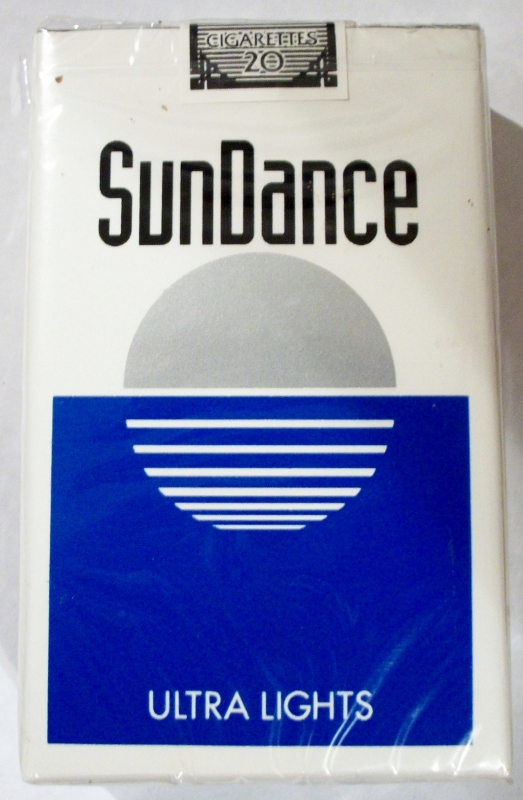 SunDance Ultra Lights, King Size - vintage American Cigarette Pack