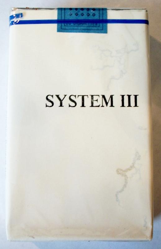System III, King Size - vintage Trademark Cigarette Pack