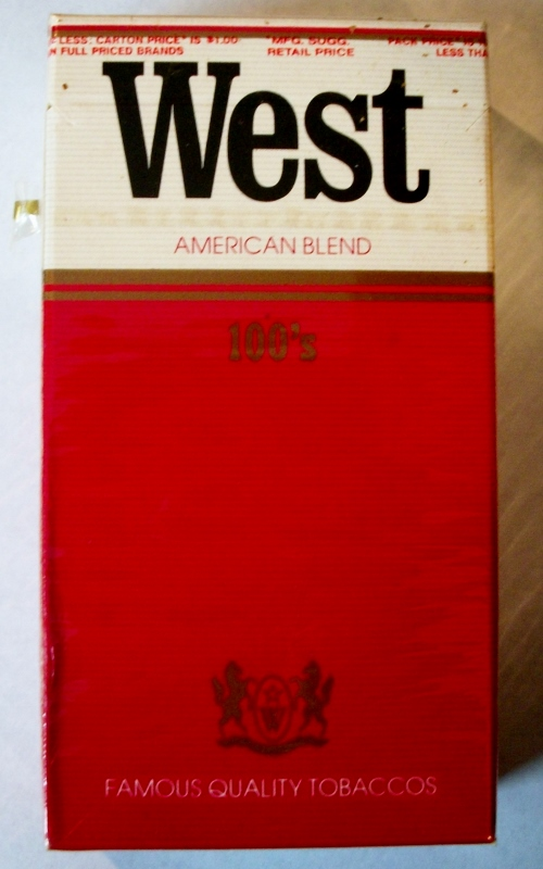 West American Blend 100's - vintage West German Cigarette Pack