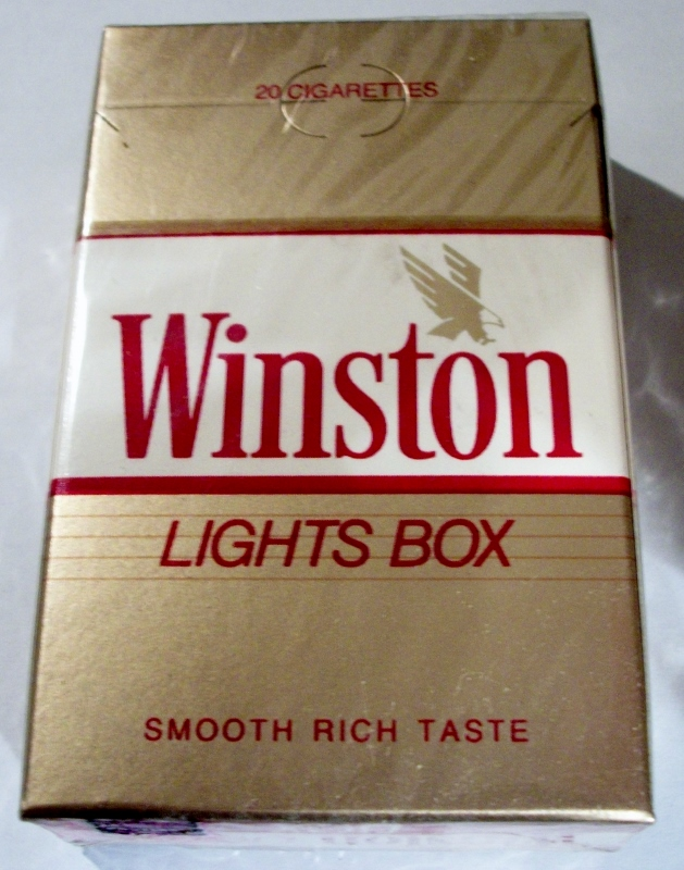Winston Lights Box - vintage American Cigarette Pack