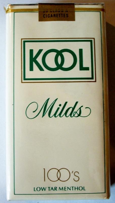 Kool Milds 100's Low Tar Menthol - vintage American Cigarette Pack