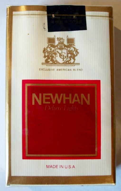 Newhan Deluxe Lights, King Size - vintage Korean Cigarette Pack
