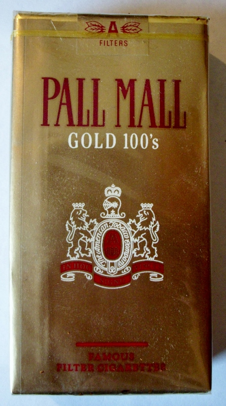Pall Mall Gold 100's, filter - vintage American Cigarette Pack