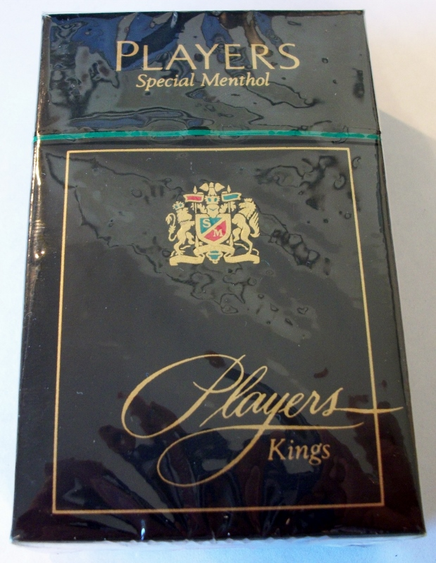 Players Special Menthol Kings box - vintage American Cigarette Pack