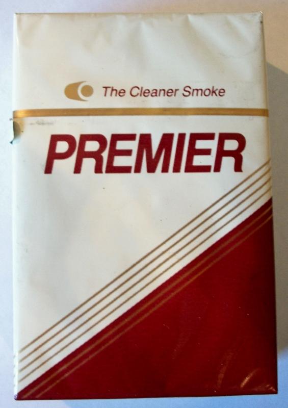 Premier Filter, King Size box - vintage American Cigarette Pack