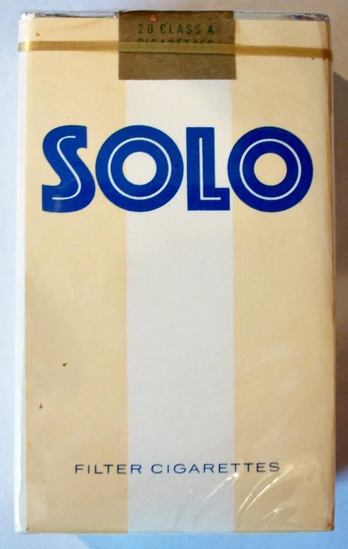 Solo, Filter King Size - vintage American Cigarette Pack