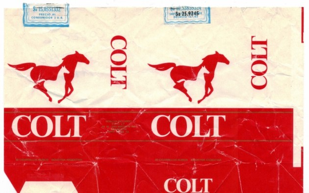 Colt king size - vintage Argentinian Cigarette Pack