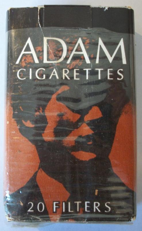 Adam Filters, Portrait Cover - vintage American Cigarette Pack