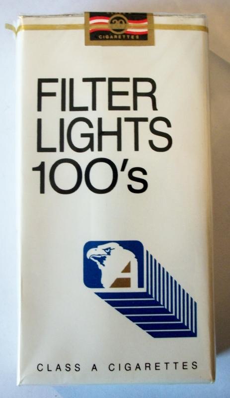 Genco Filter Lights 100's - vintage American Cigarette Pack