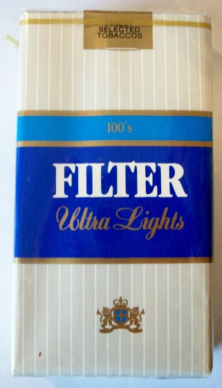 Liggett Filter Ultra Lights 100's - vintage American Cigarette Pack
