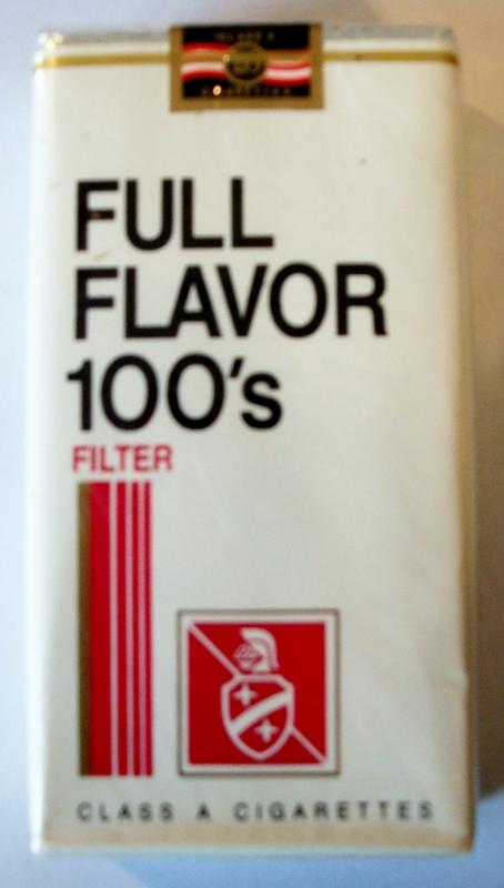 Full Flavor 100's Filter - vintage American Cigarette Pack