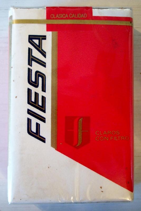 Fiesta claros con filtro - vintage Mexican Cigarette Pack