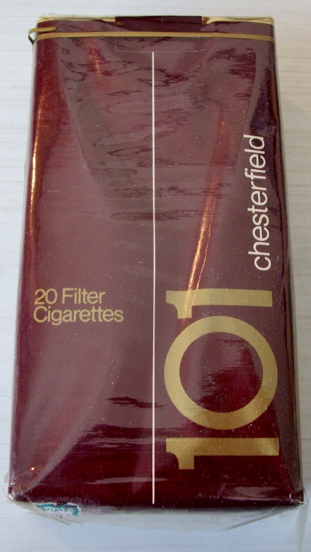 Chesterfield 101 Filter - vintage American Cigarette Pack