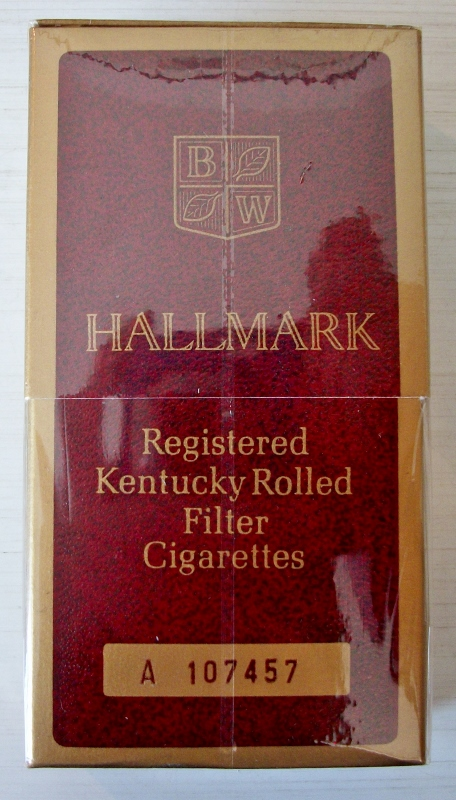 Hallmark Kentucky Rolled sleeve box - vintage American Cigarette Pack