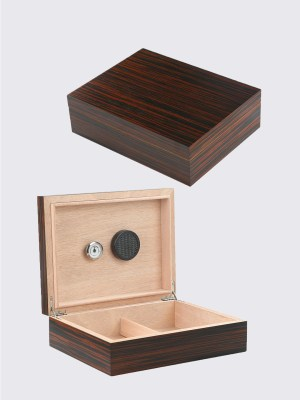 Mahogany Wooden Cigar Humidor With 7 Drawers And Gl Door