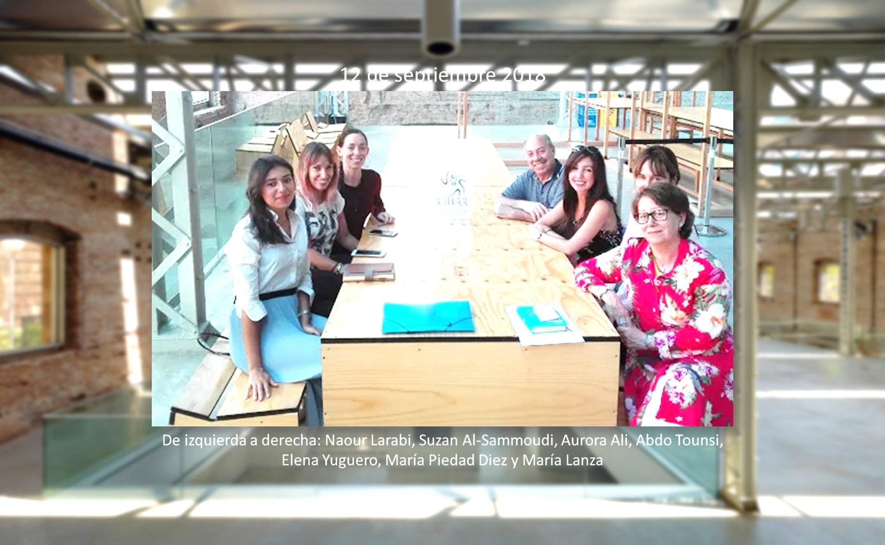 Reunión de trabajo con las colaboradoras de la II FLHA CIHAR de Madrid