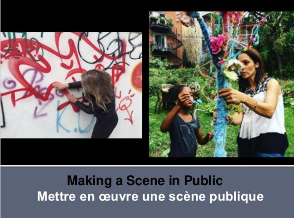 Making a Scene in Public