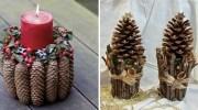 Створюємо новорічний декор із шишок самотужки (20 ідей)
