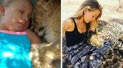 Дівчина, народжена в притулку для диких тварин, спить серед гепардів (10 фото)