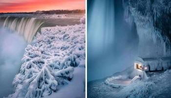 Палац Снігової королеви: 12 захоплюючих знімків «замерзлого» Ніагарського водоспаду