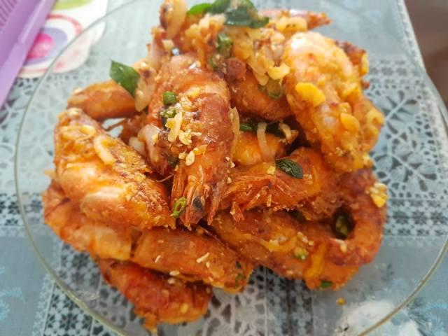 Homemade Udang Telor Asin ( Prawn Salted ) - Dari Dapur Cikza