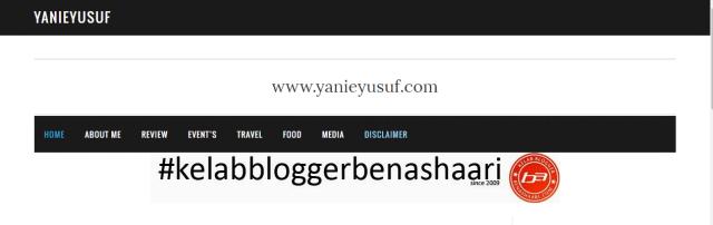Blogger Malaysia Pilihan Cikza | Yanie Yusuf