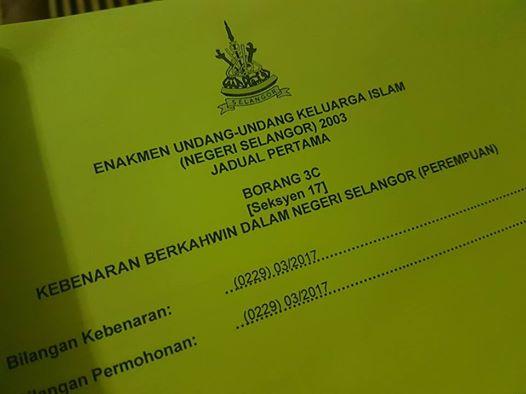 Permohonan Kebenaran Berkahwin Negeri Selangor
