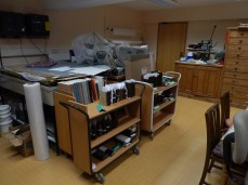 Conservation suite, with NADFAS trolley.